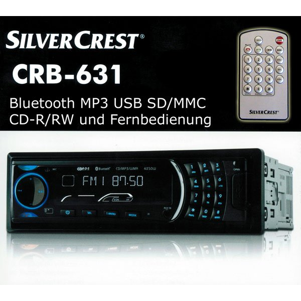 geschenketipps autoradio crb 631 silvercrest usb mp3 sd. Black Bedroom Furniture Sets. Home Design Ideas