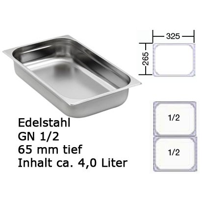 Chafing Dish GN 1/2 Behälter Edelstahl
