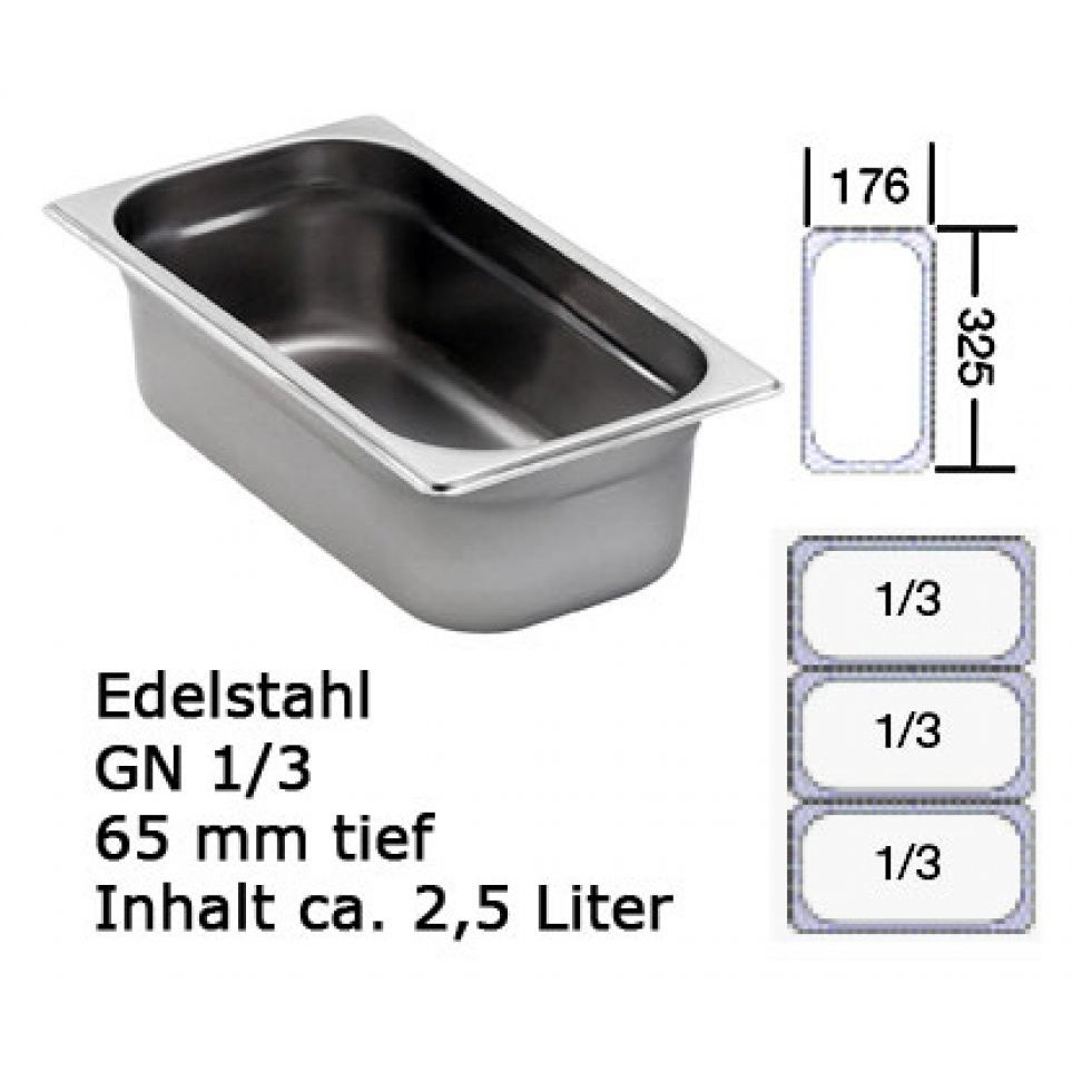 Chafing Dish GN 1/3 edelstahl Behälter