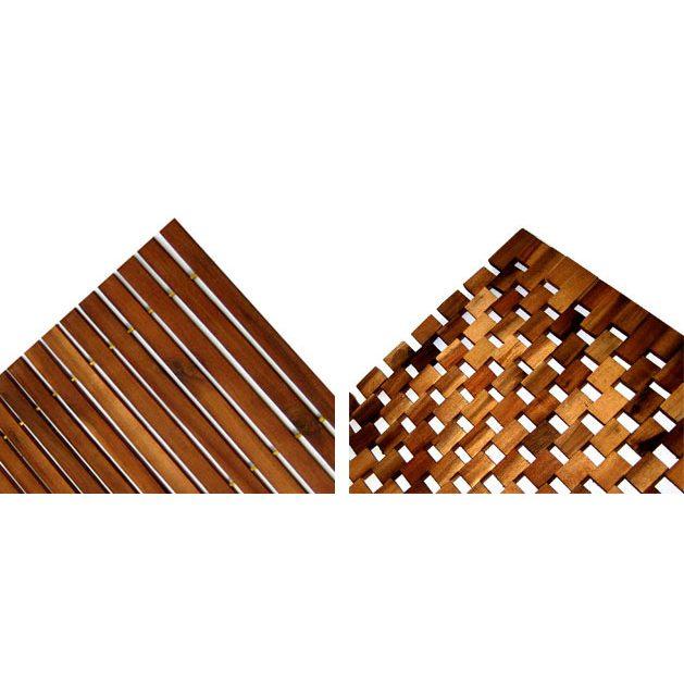 Holzbadematte Akazien- oder Eukalyptusholz