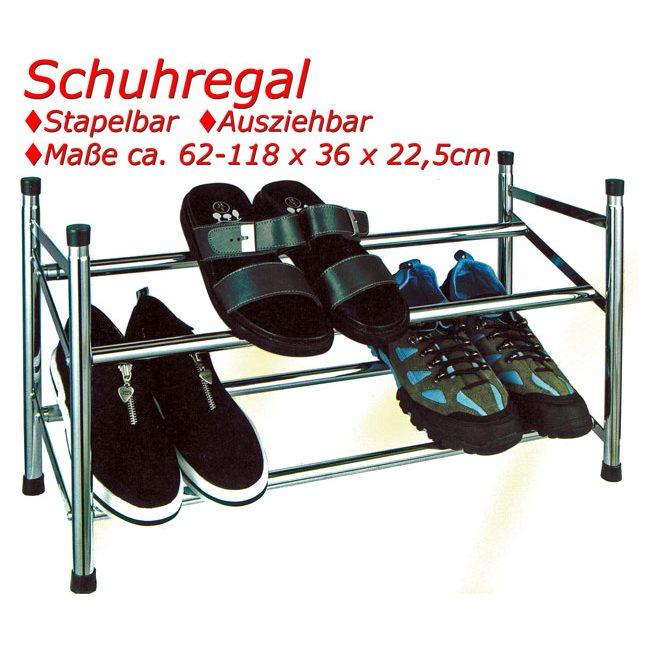 Schuhregal mit zwei Böden stapelbar
