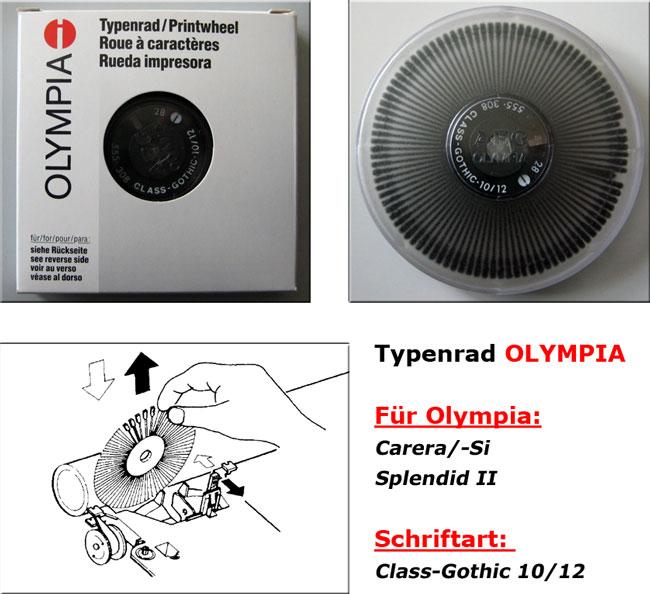 Typenrad Carera/-Si, Splendid II