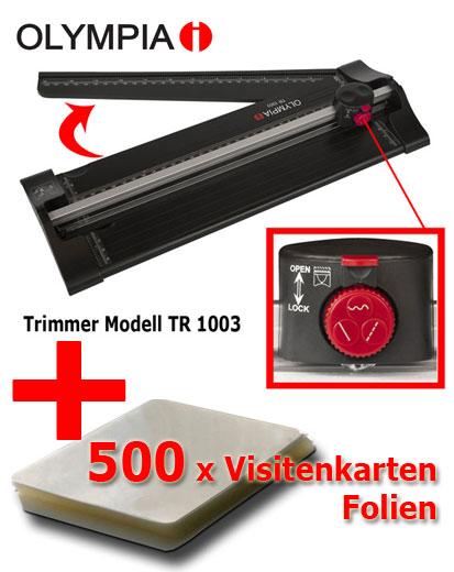 500 x Visitenkarten-Folien + Schneider