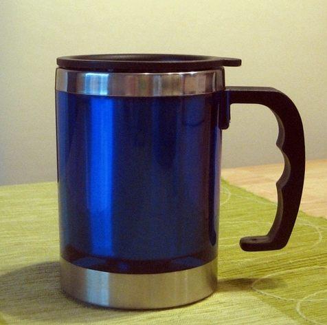 Edelstahl Iso-Becher 350 ml BLAU mit Deckel
