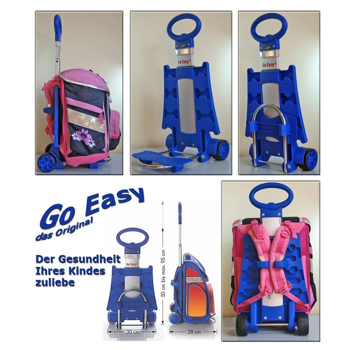 Go Easy Schulranzen Trolley BLAU