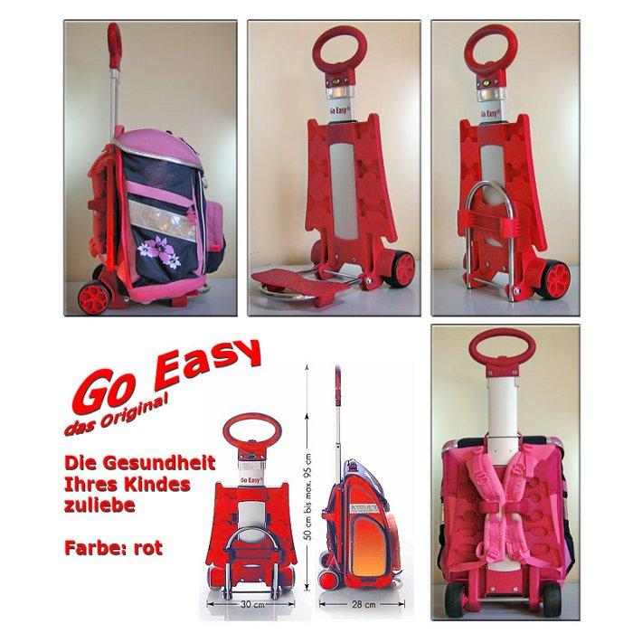 Go Easy Schulranzen Trolley ROT